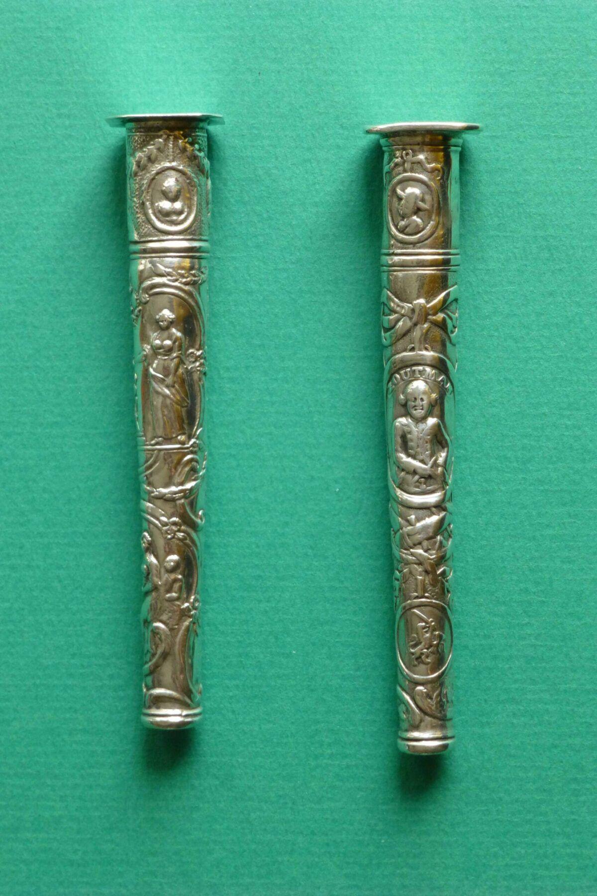 antieke zilveren naaldenkokers van Dirk Hoep Hoorn Blog Zilver.nl