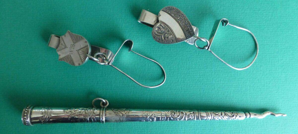 zilveren breipenschede en 2 zilveren wolhaken Blog Zilver.nl