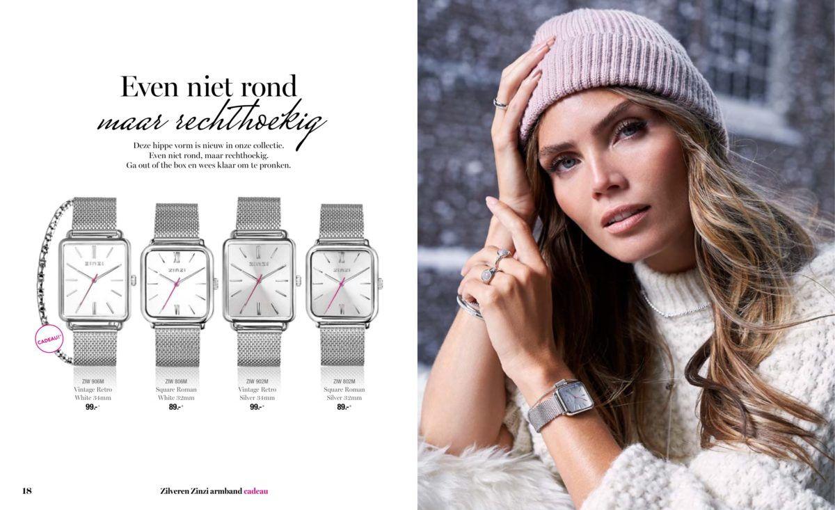 Zinzi horloges met 20% korting bij Zilver.nl