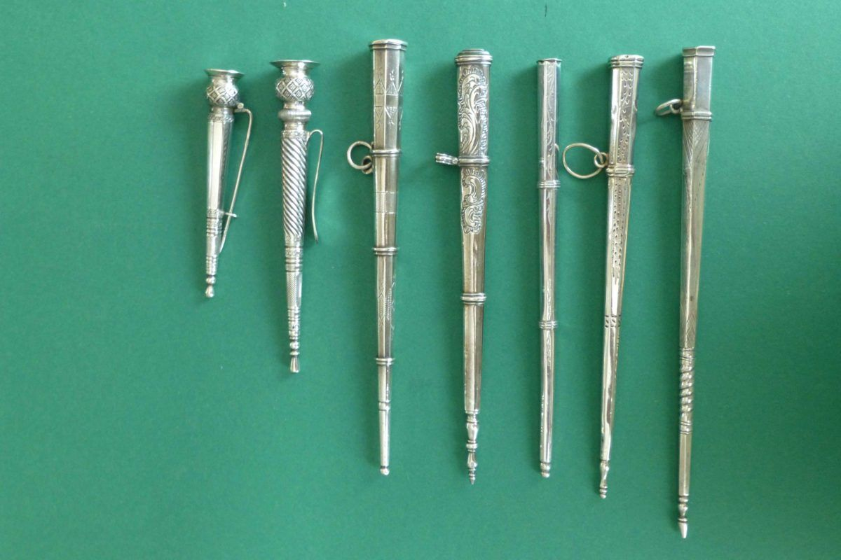 Antieke zilveren breipenschedes