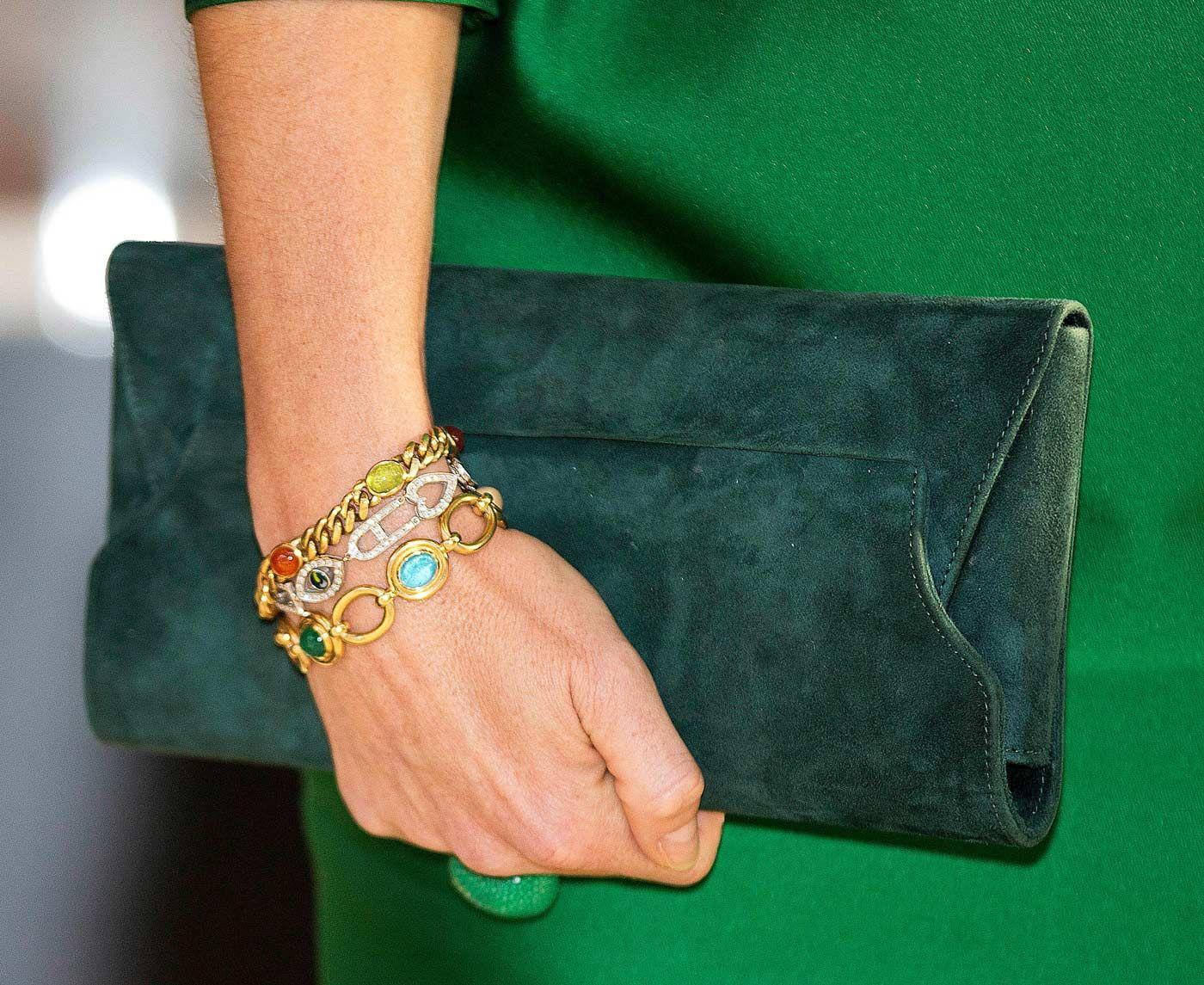 Koningin Maxima met gouden armbanden Blog Zilver.nl