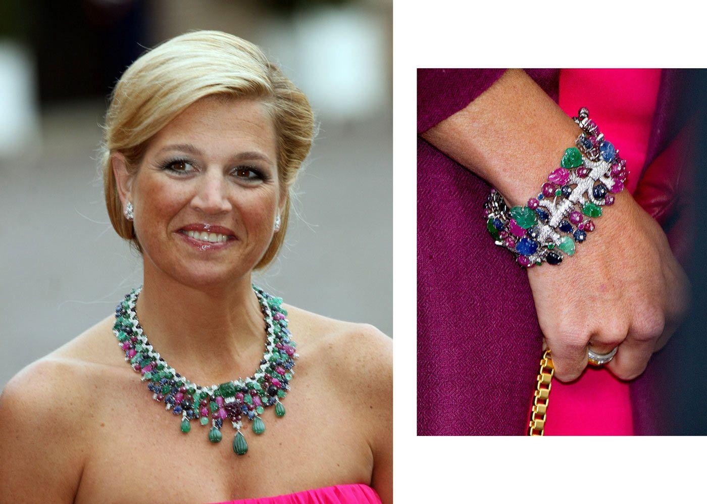 Koningin Maxima met het tutti frutti collier met de armband Blog Zilver.nl