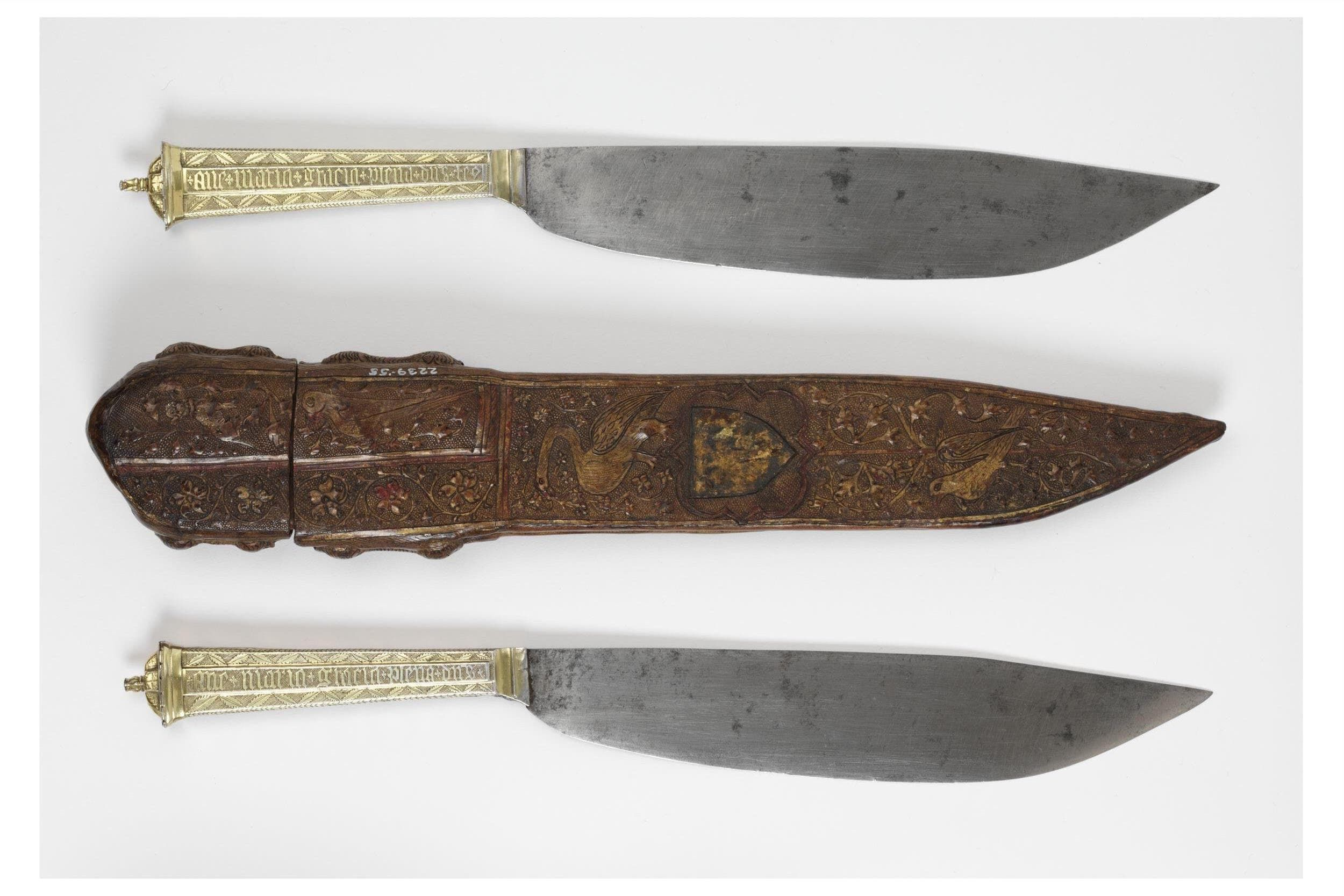 antiek stel messen in een foudraal 1400-1450 Blog Zilver.nl