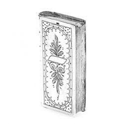 zilveren tondeldoosje in boekvorm bij Zilver.nl