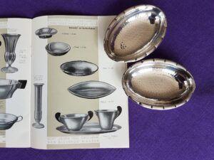 Zilveren amandelbakjes in een oude verkoopcatalogus Blog Zilver.nl