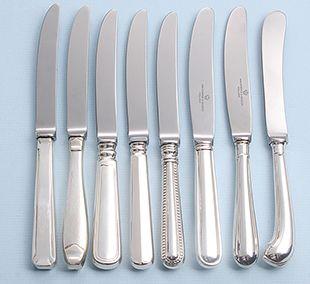 nieuwe zilveren messen van oude mallen