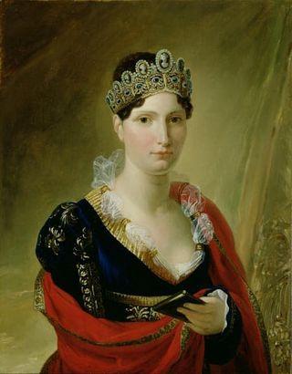 Elisa Napoleon met een camee diadeem Zilver.nl