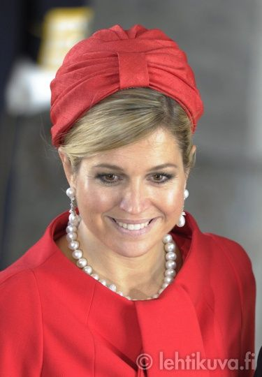 Koningin Maxima met parelsieraden
