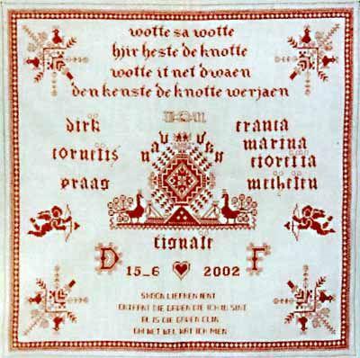 Antieke Friese Knottendoek
