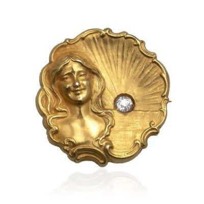 Gouden medaille broche art nouveau Blog Zilver.nl