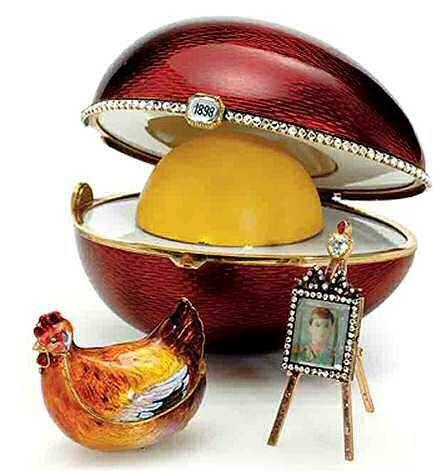 Fabergé egg 1898 Hen ei HM King Farouk's Blog Zilver.nl