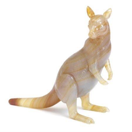 Kangaroo van hardsteen Carl Fabergé rond 1910 Blog Zilver.nl