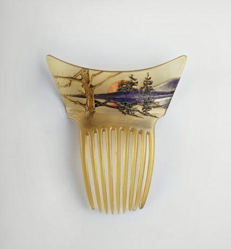 Rene Lalique haarkam met de ondergaande zon Blog Zilver.nl