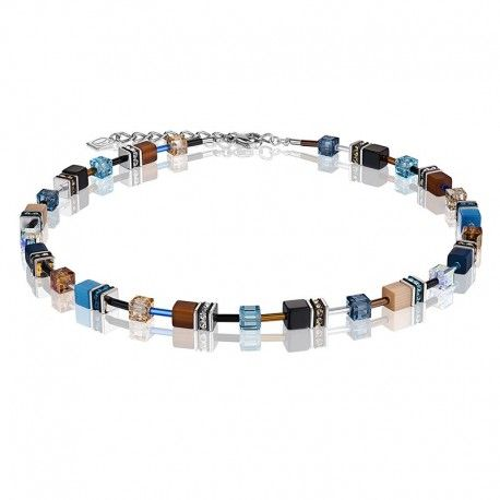 Coeur de Lion collier in blauw tinten