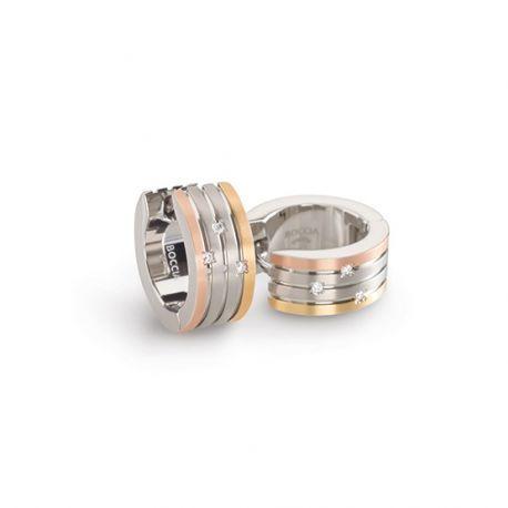 Boccia titanium oorringen met diamantjes.