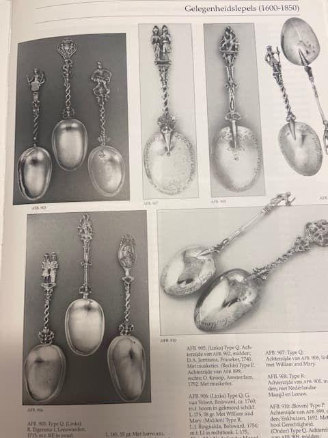 Antieke zilveren geboortelepels Klein Zilverboek Zilver.nl