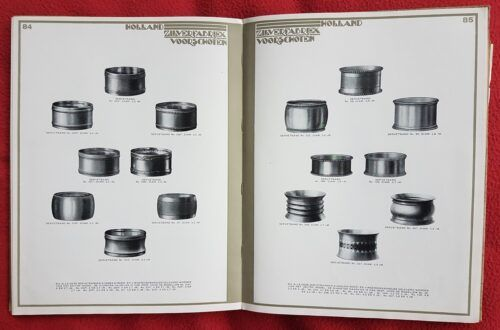 Oude catalogus van Kempen servetringen Blog Zilver.nl