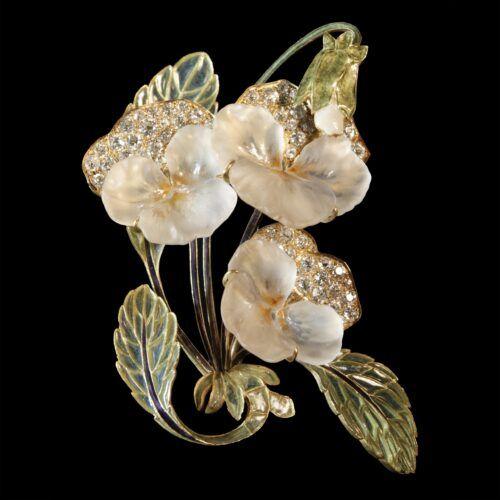 Broche viooltjes Rene Lalique Blog Zilver.nl