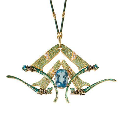 Hanger Rene Lalique 4 libelles Blog Zilver.nl