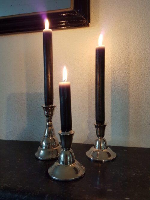 Art deco zilveren kandelaars in verschillende hoogtes Blog Zilver.nl