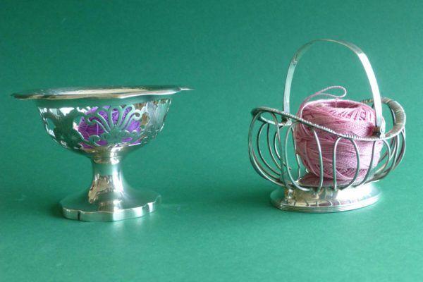 Zilveren kluwenbakjes antiek zilver 19e eeuw Zilver.nl