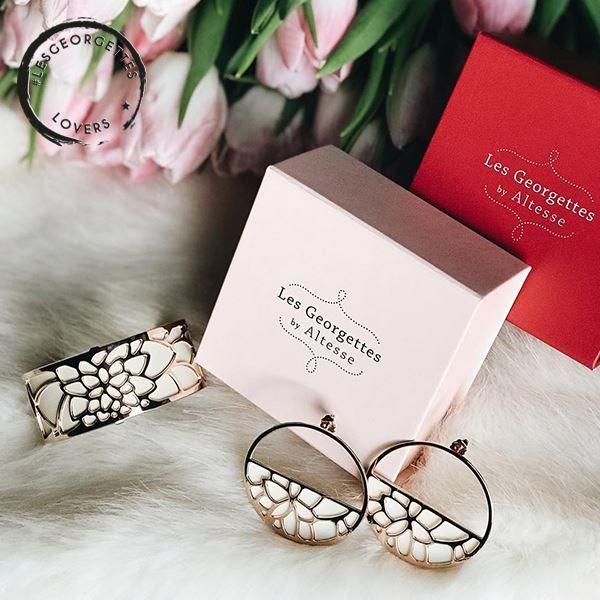 Les Georgettes armbanden, ringen en oorbellen met verwisselbare inlays.