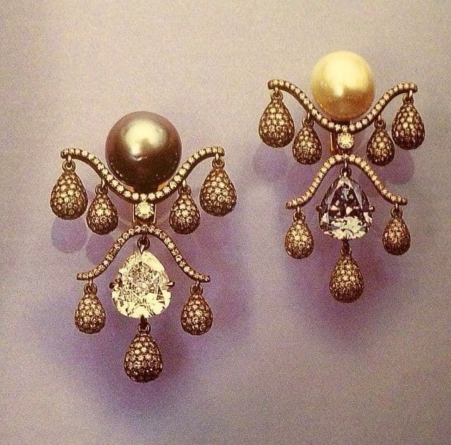 Jar girandole oorbellen parels diamant Blog Zilver.nl