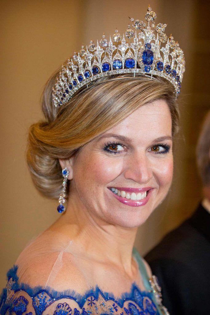 Koningin Maxima met de saffieren van Anna Paulowna Blog Zilver.nl