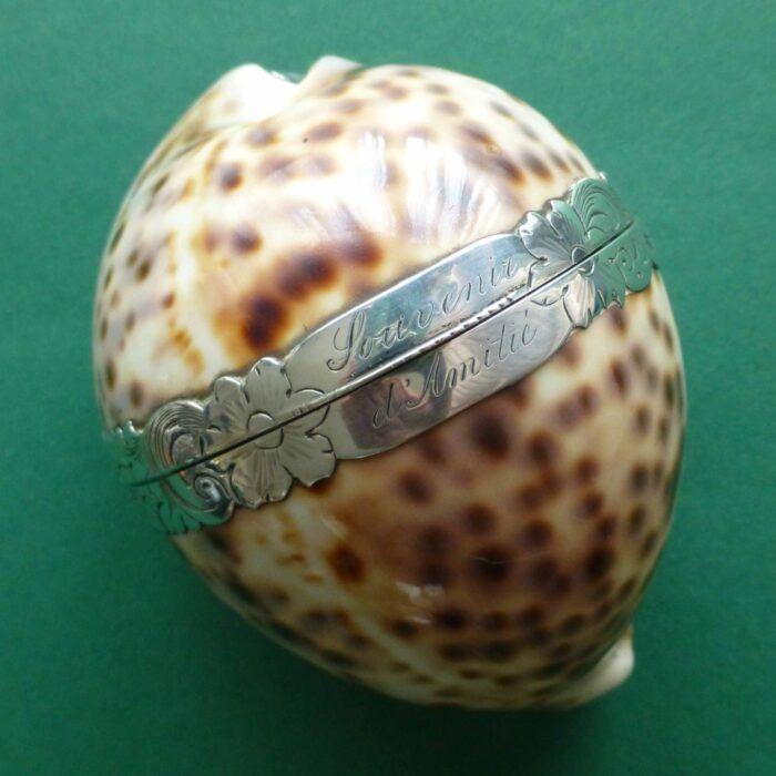 Zilveren tijgerschelp gevuld met antiek zilver naaigerei Blog Zilver.nl