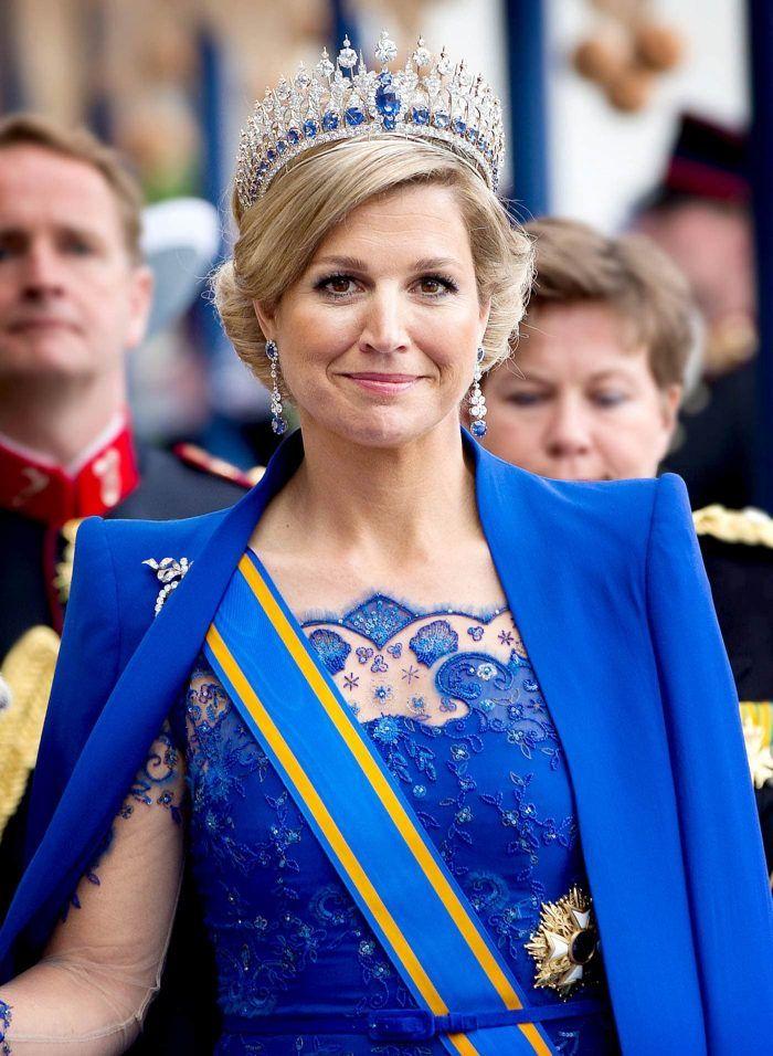 Koningin Maxima met het kronings diadeem Blog Zilver.nl