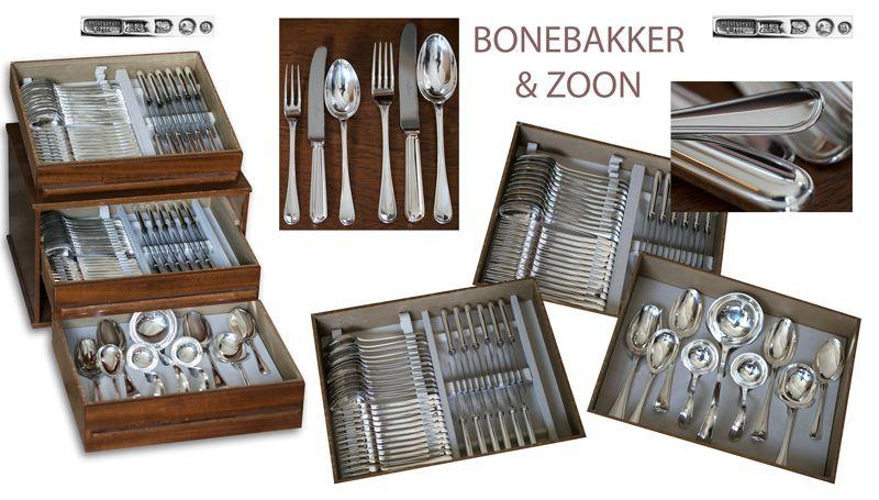 Een zilveren cassette van A. Bonebakker & Zoon te Amsterdam