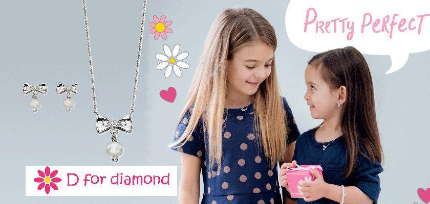 Kindersieraden van D for Diamonds oorbellen voor Prinsesjes